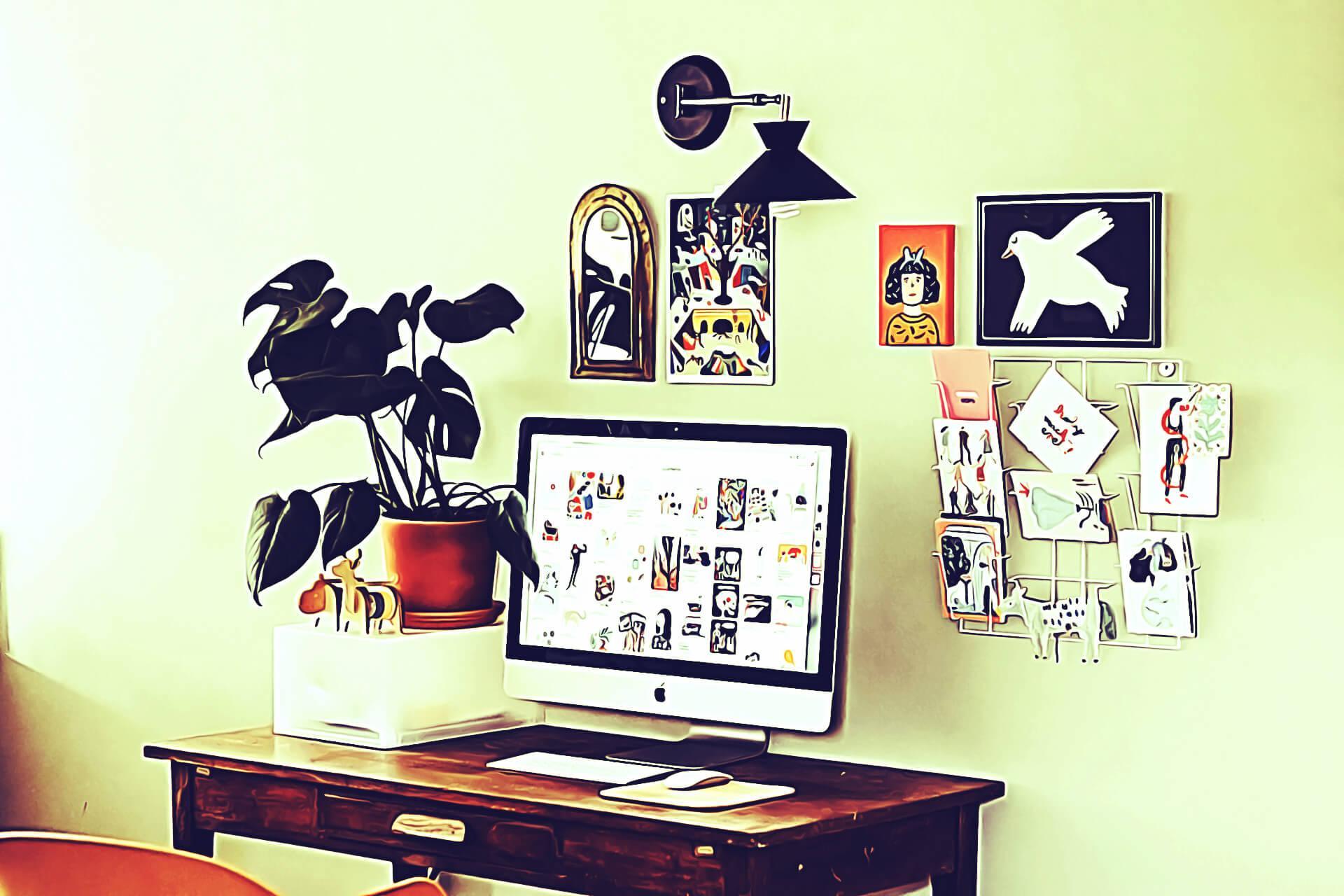 Best Desk Decor Ideas india 2020 Planters photo cards